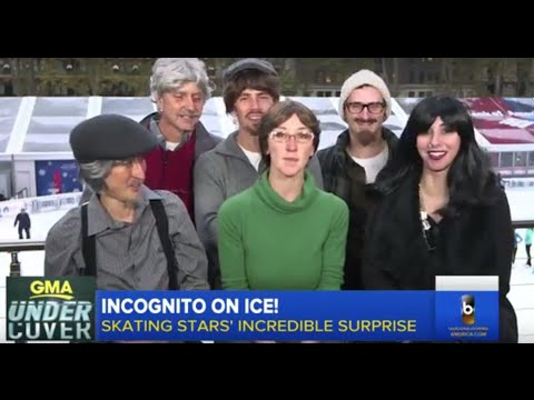 Six Olympians Trick Local Ice Skaters