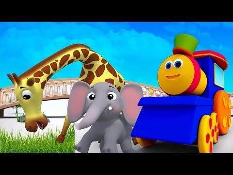บ๊อบรถไฟ   สัตว์ ABC   เรียนรู้ชื่อสัตว์   เพลงตัวอักษร   Phonics Songs   Bob The Train   Animal ABC