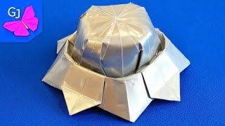Оригами ЛЕТАЮЩАЯ ТАРЕЛКА из бумаги