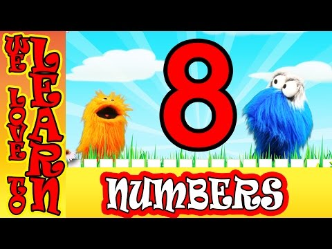 We Love To Count Numbers For Toddlers Learning the Number 8 [ Children's Education]