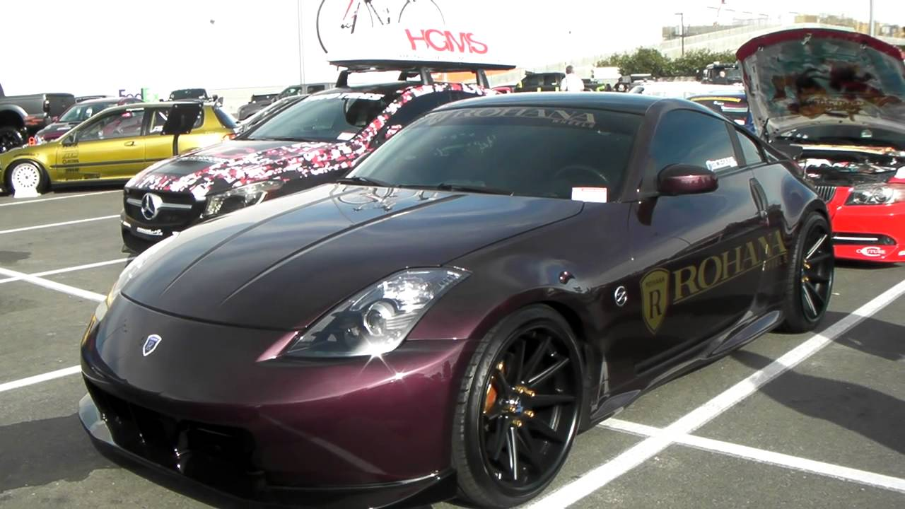 Nissan 350z On 20 Quot Staggered Rohana Rc10 Wheels Youtube