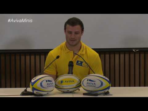 Robbie Henshaw's Press Conference with #AvivaMinis