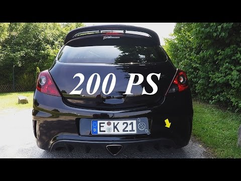 Opel Corsa OPC - Sound & Acceleration & Onboard Autobahn [0-230km/h]
