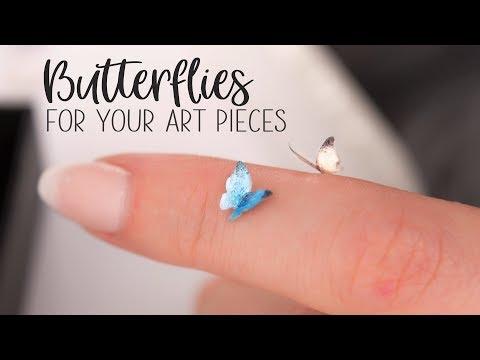 Miniature Butterflies for Your Art Pieces OOAK
