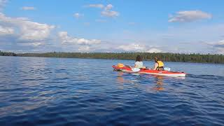 Kayaking on Birch Lake near Ely MN - Superior National Forest