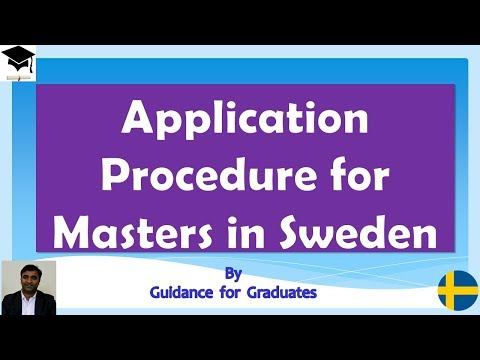Application Procedure  for Masters in Sweden, Study in Sweden
