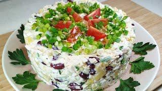 Приготовьте этот ПРОСТОЙ САЛАТ. Он очень вкусный Универсальный салат для любого стола