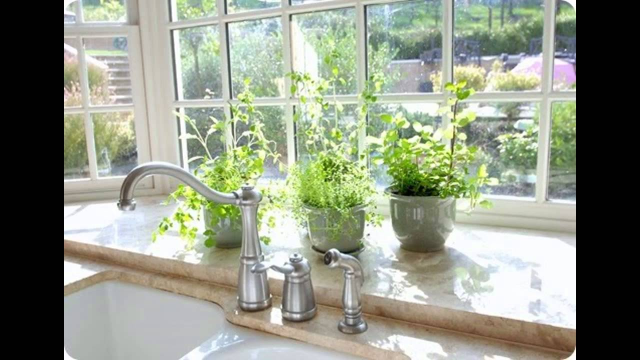 Kitchen window for plants -  Garden Design With Good Kitchen Garden Window Ideas Youtube With Container Planting From Youtube Com