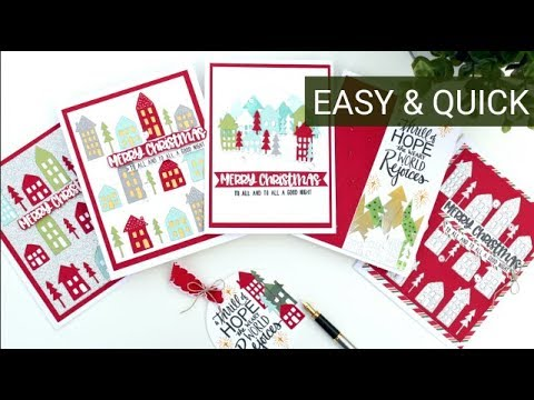 Easy and Quick Die Cut Christmas Cards with Bibi Cameron