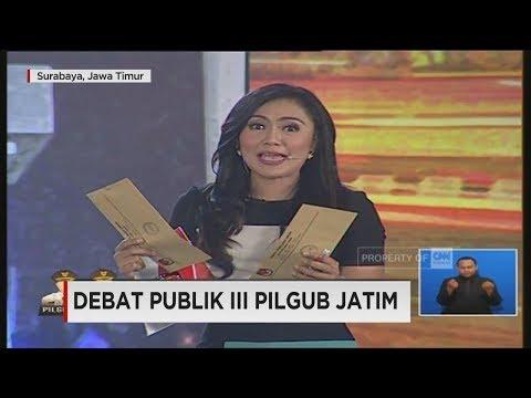 Debat Final Pilgub Jatim Segmen 6: Saat Dua Paslon Ditanya Bahasa Jawa