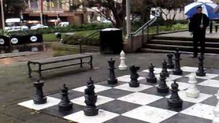 A Giant Chess Game in Hyde Park Sydney Australia