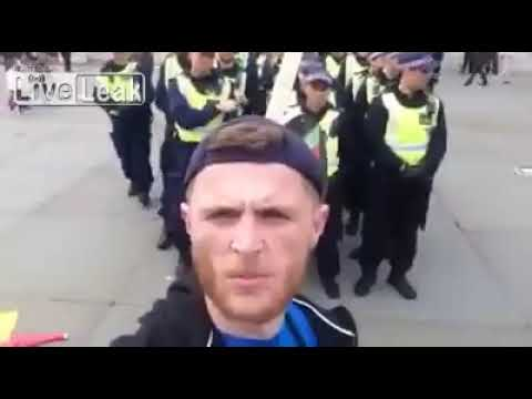 British cops called muppets in uniforms by demonstrator