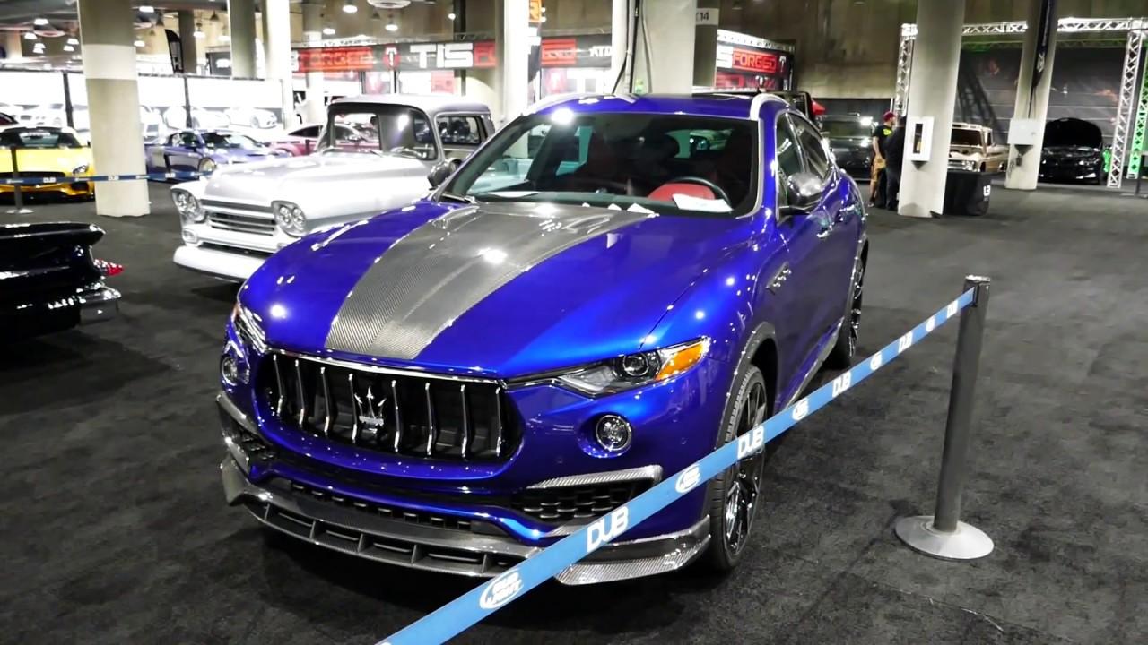 New 2018 Maserati Levante Custom Blue Paint 2017 La Auto Show