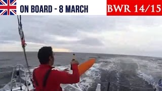 Barcelona World Race 2014/15 - Rounding  the Cape Horn - 8 MARCH