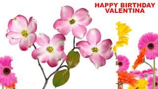 Valentina - flowers - Happy Birthday