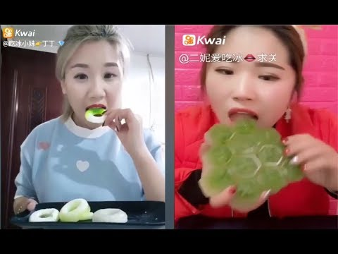 [ASMR NO TALKING] Ice Eating ASMR - (Eat the whole word) / Ice Chewing #107