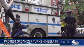 New York City Protest Organizer Turns Himself In To Police   NBC New York
