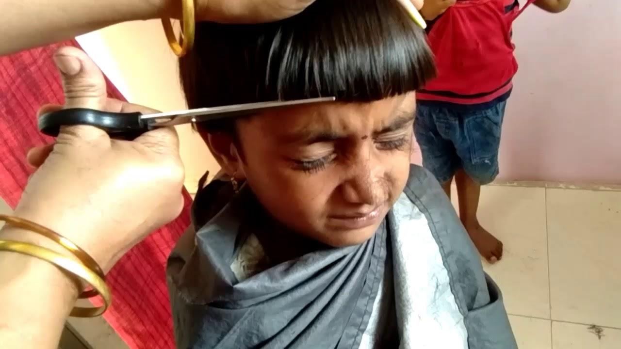 Little Baby Short Mushroom Haircut 2018 Youtube