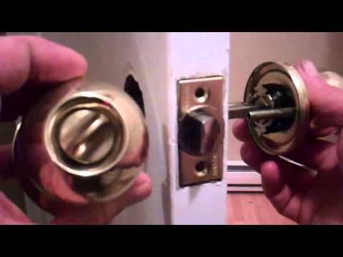 Removing an old door knob and installing a new one