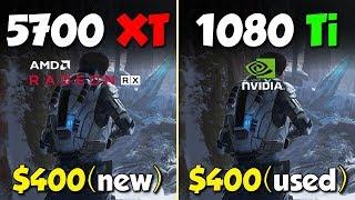 RX 5700 XT .vs GTX 1080 Ti