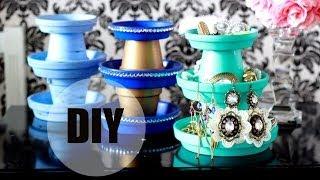 Diy: 3 Tier Terracotta Pot Jewelry Stand - $1 !