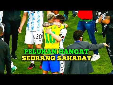 Momen Ketika Messi Memberikan Semangat Kepada Neymar Saat Laga Final Copa America