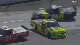 NASCAR Camping World Truck Series 2018. Martinsville Speedway. Matt Crafton Crash