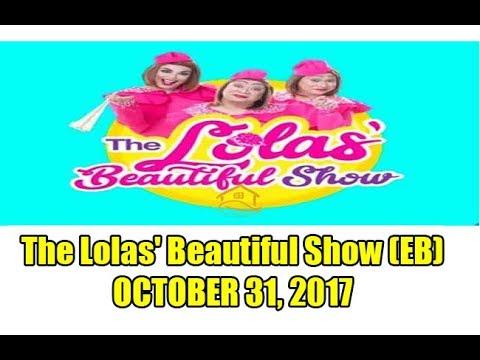 The Lolas' Beautiful Show - Guest: Alonzo & Niño Muhlach October 31, 2017