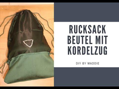 diy rucksack beutel mit kordelzug n hen youtube. Black Bedroom Furniture Sets. Home Design Ideas