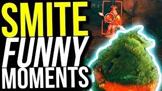 FORTNITE BUSH SKIN IS OP! - SMITE FUNNY MOMENTS