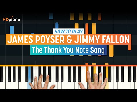 """How To Play The """"Thank You Note"""" Song by James Poyser & Jimmy Fallon 