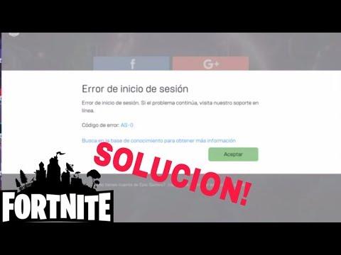 Soluciona Fortnite Error inicio de secion - YouTube