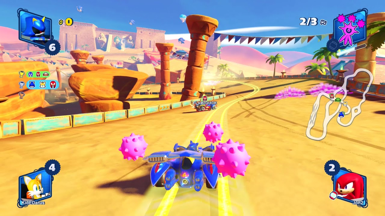 Team Sonic Racing Sand Road Online Race 1080 Hd Youtube
