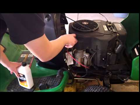 john deere L130 maintenance oil,oil filter,air filter, fuel filter,and spark plug change  YouTube