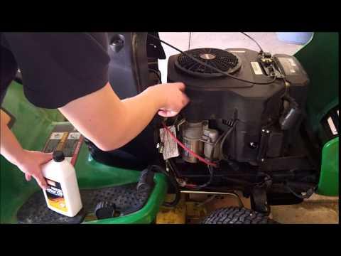 John Deere Sabre Wiring Diagram John Deere L130 Maintenance Oil Oil Filter Air Filter