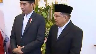 """Wapres JK Dampingi Presiden Jokowi di """"Open House"""" Lebaran"""