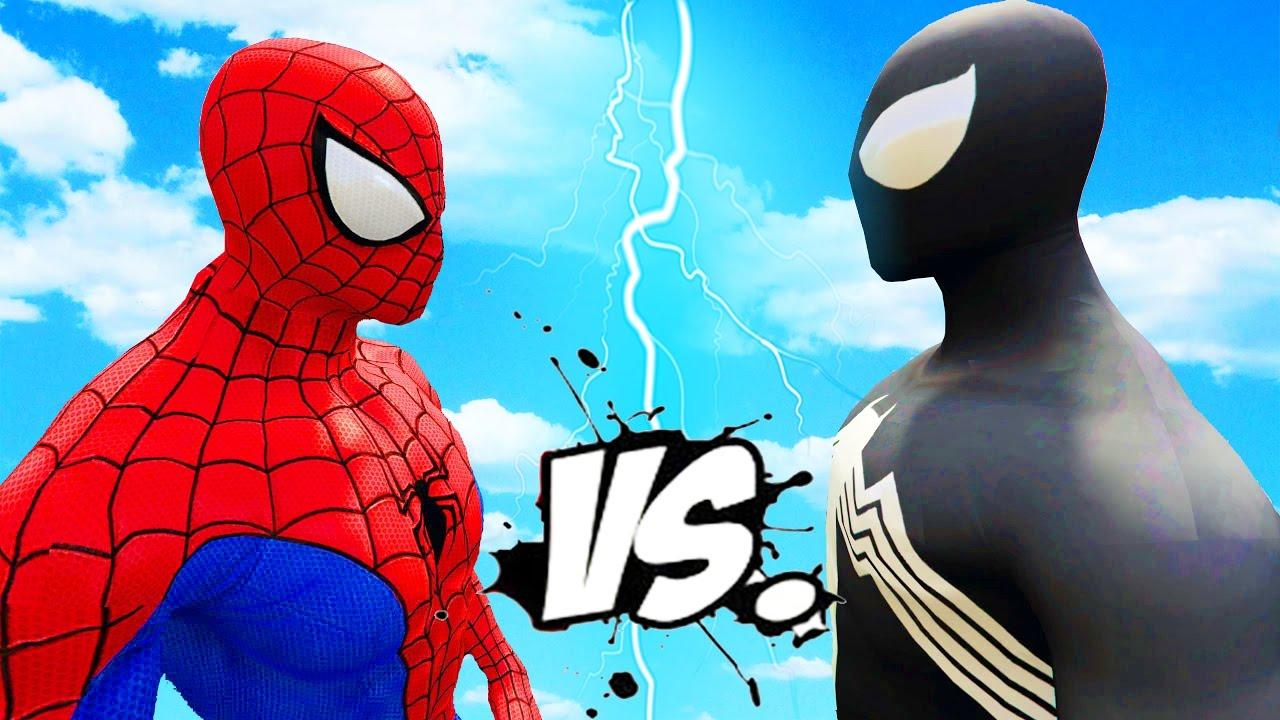 Spiderman vs Black Spider-Man - Epic Superheroes Battle ...