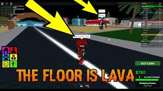 ROBLOX - THE FLOOR IS LAVA (FUNNY!) (SOCIAL EXPERIMENT)