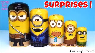 Minions Nesting Dolls Toys Surprises Trolls Toy Story Despicable Me 3 Paw Patrol Squinkies Fun