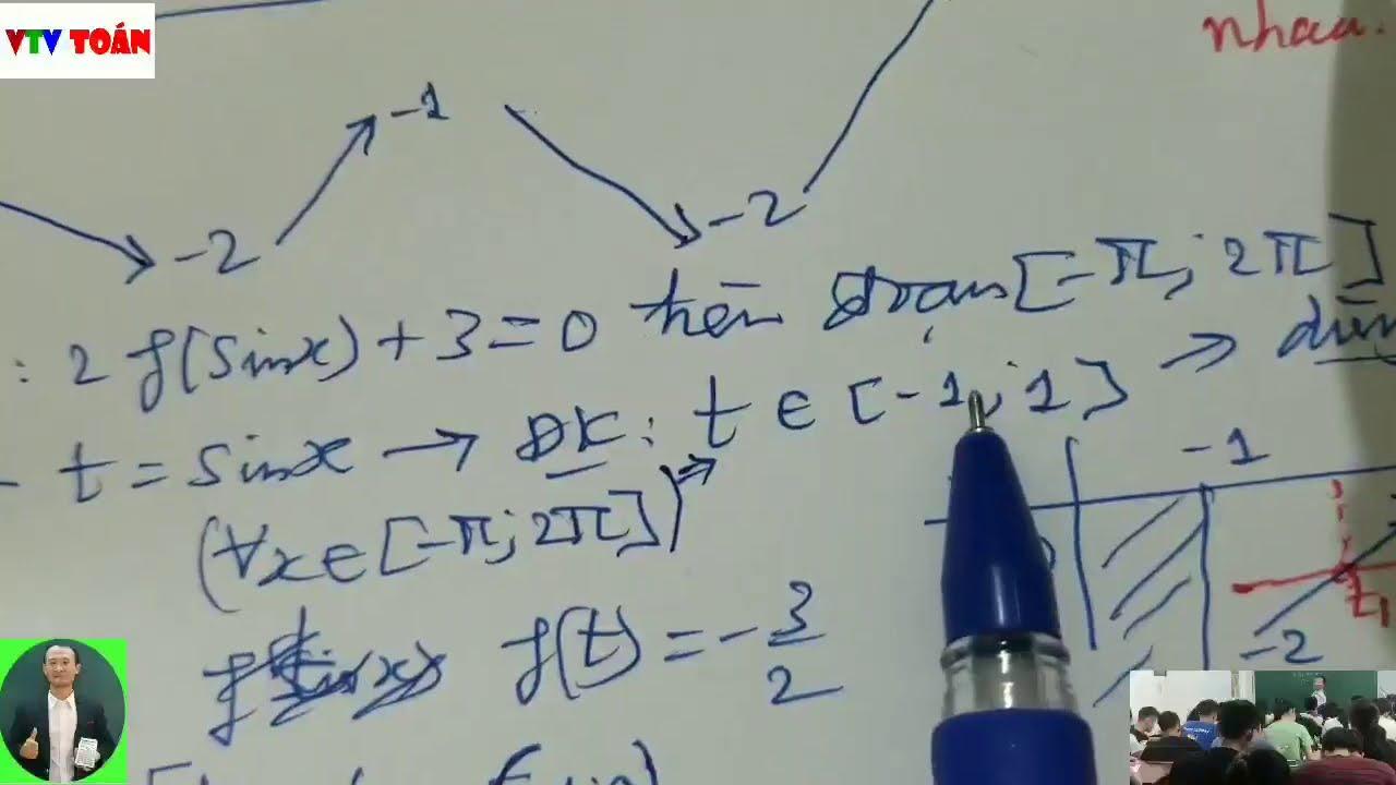 Ôn thi giữa kỳ 1-Hàm số –  Đề Bộ GD-Giải câu 8-9-10₫ điểm -Phần 02. Kênh VTV Toán