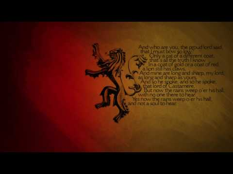Game of Thrones  The Rains of Castamere with Lyrics Lannister Song HD