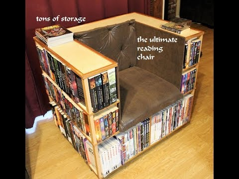 building a bookshelf chair = the ultimate chair..