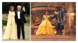 melania and donald trump like beauty and the beast