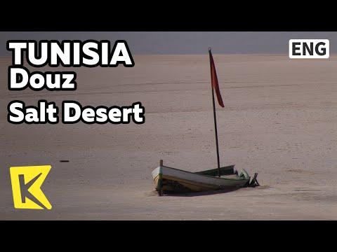 【K】Tunisia Travel-Douz[튀니지 여행-두즈]소금 사막과 소금 예술품/Salt Desert/Artwork/Factory