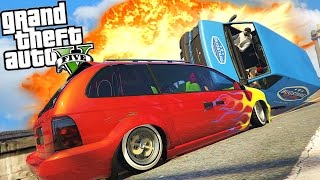GTA 5 - RAGE RALLY: So Much Yelling!! GTA V Online (Funny Moments & FAILS)