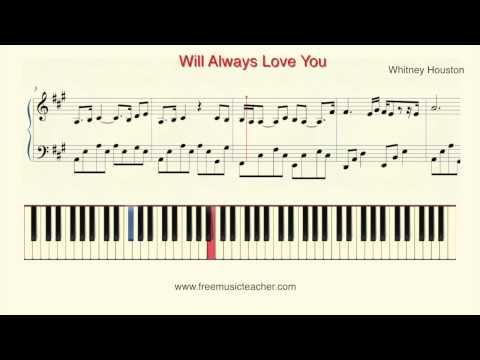 """How To Play Piano: Whitney Houston """"I Will Always Love You"""" Piano Tutorial by Ramin Yousefi"""