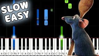 Le Festin - Ratatouille - SLOW EASY Piano Tutorial [animelovemen] видео