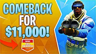 COMEBACK FOR $11,000! #FallSkirmish (Fortnite Battle Royale)