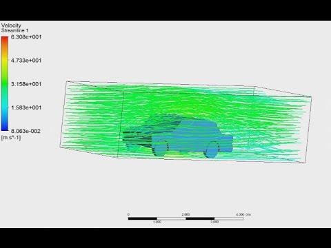 Tutorial ANSYS CFX Part 2/2 | Analysis aerodynamics the car in ANSYS CFX, drag and lift force