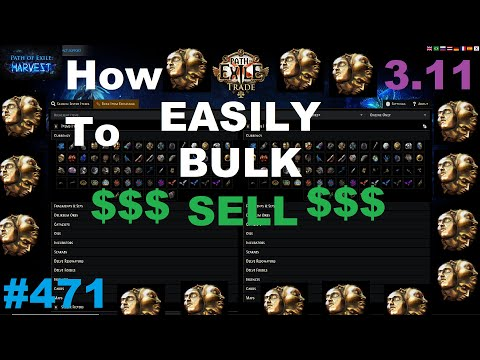 [Path of Exile] How To Easily Bulk Sell in Harvest League - 471